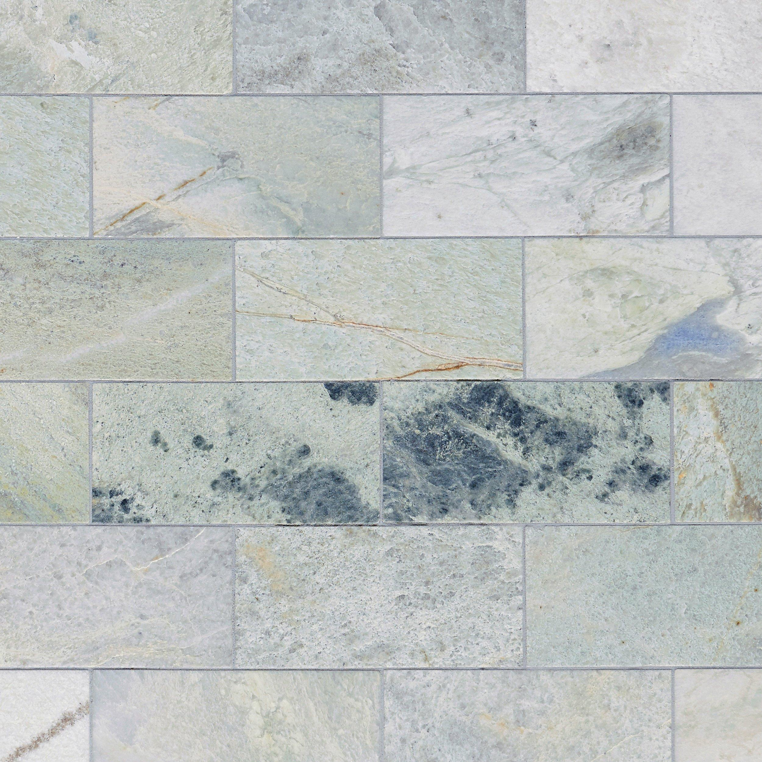 Caribbean Green Marble Tile 6 X 12 100051648 Floor And Decor