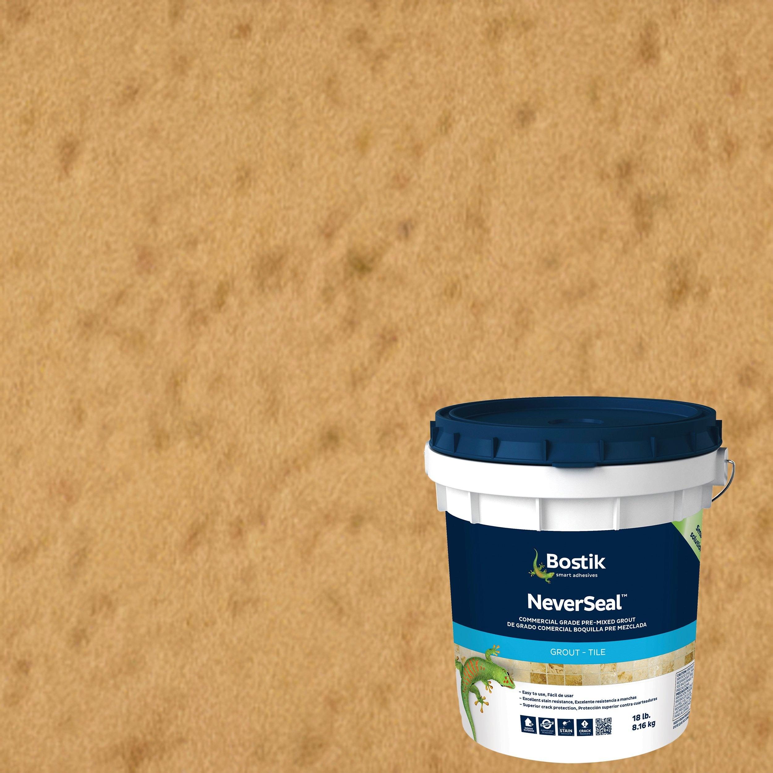 Bostik Neverseal Linen Pre Mixed Commercial Grade Grout 18lb 100077452 Floor And Decor
