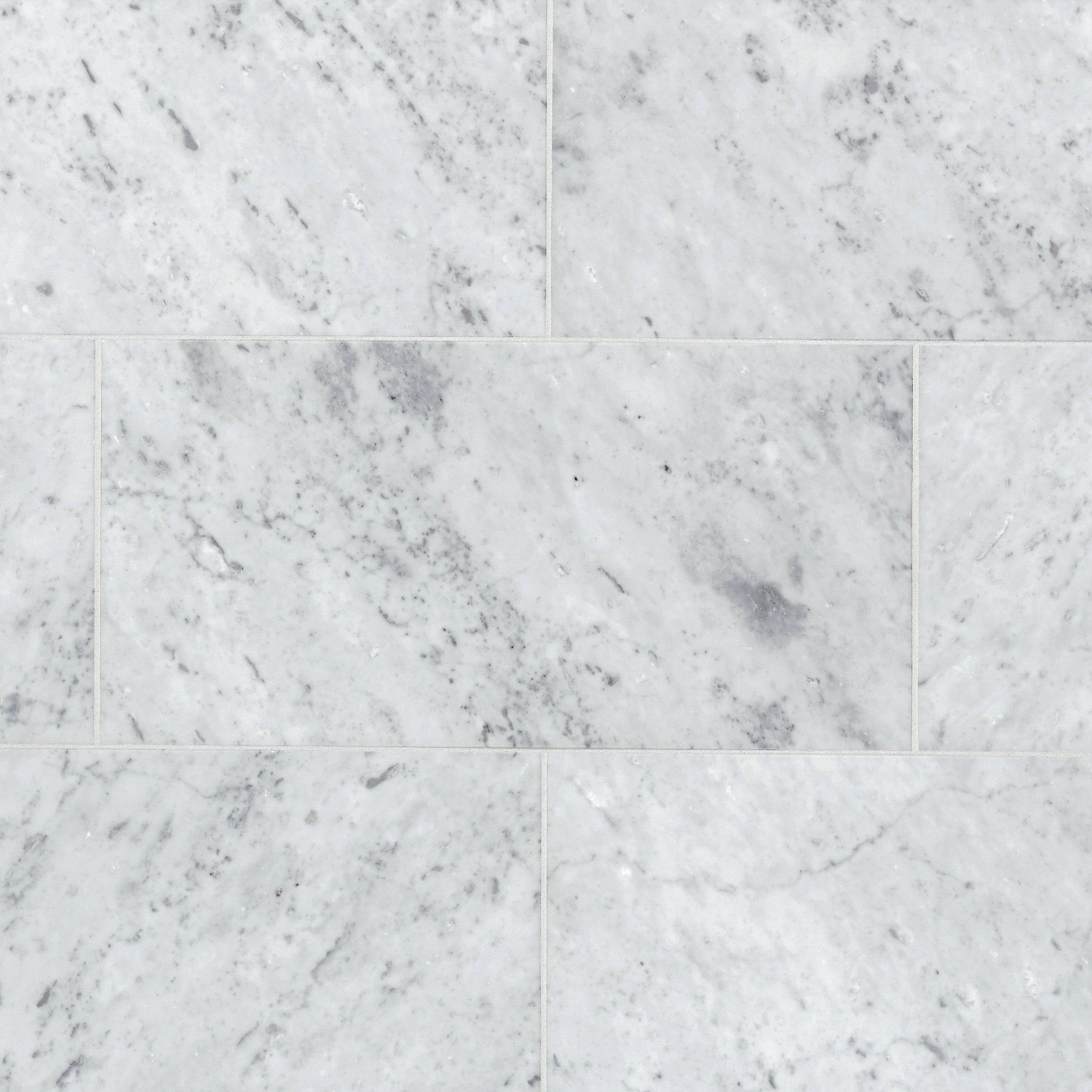 Bianco Carrara Honed Marble Tile 12 X 24 100100981 Floor And Decor