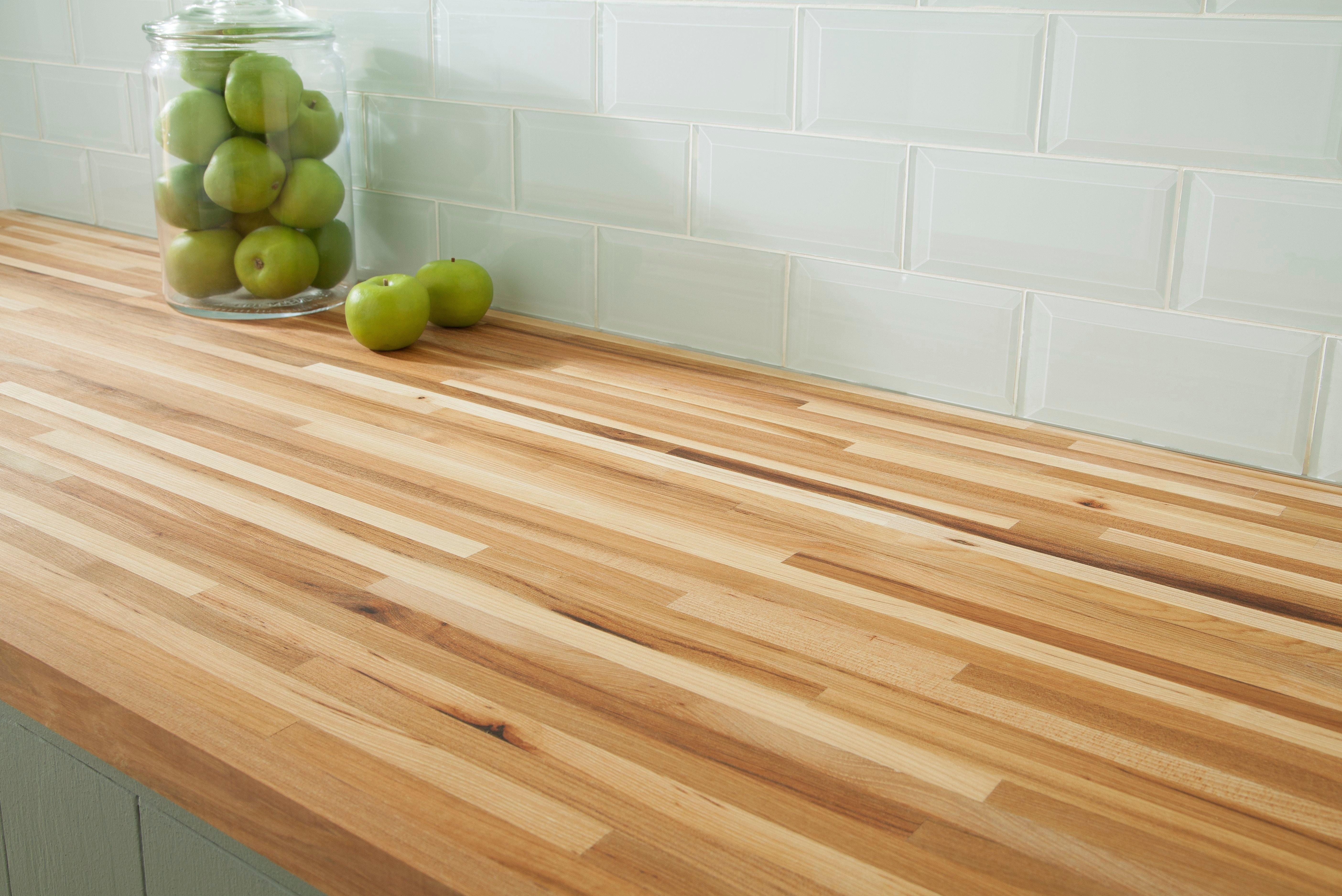 American Hickory Butcher Block Countertop 8ft 96in X 25in 100110113 Floor And Decor