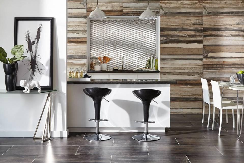 Wood on Walls Kitchen