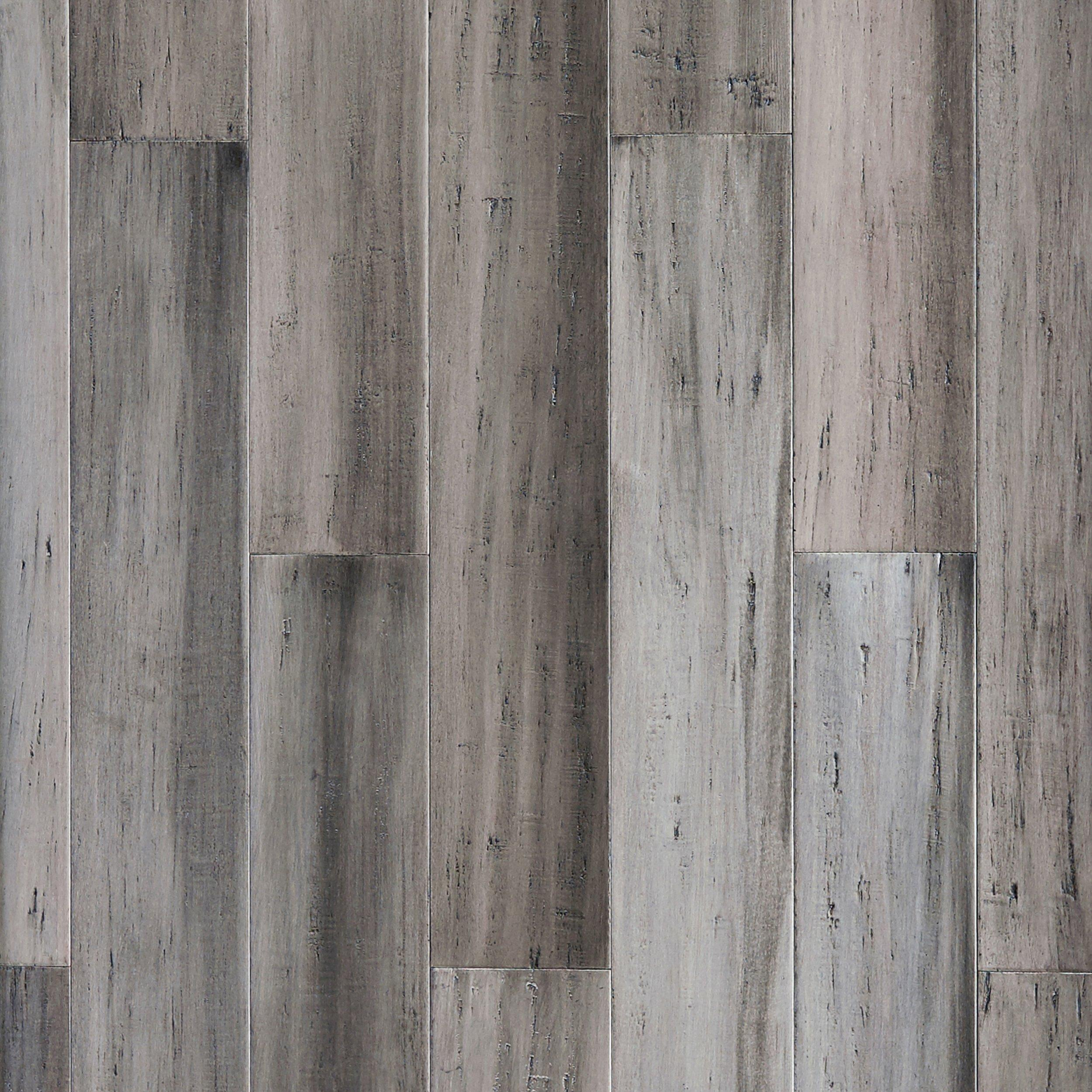 Urban Gray Hand Scraped Solid Stranded Bamboo 1 2in X 5 5 8in 100315597 Floor And Decor
