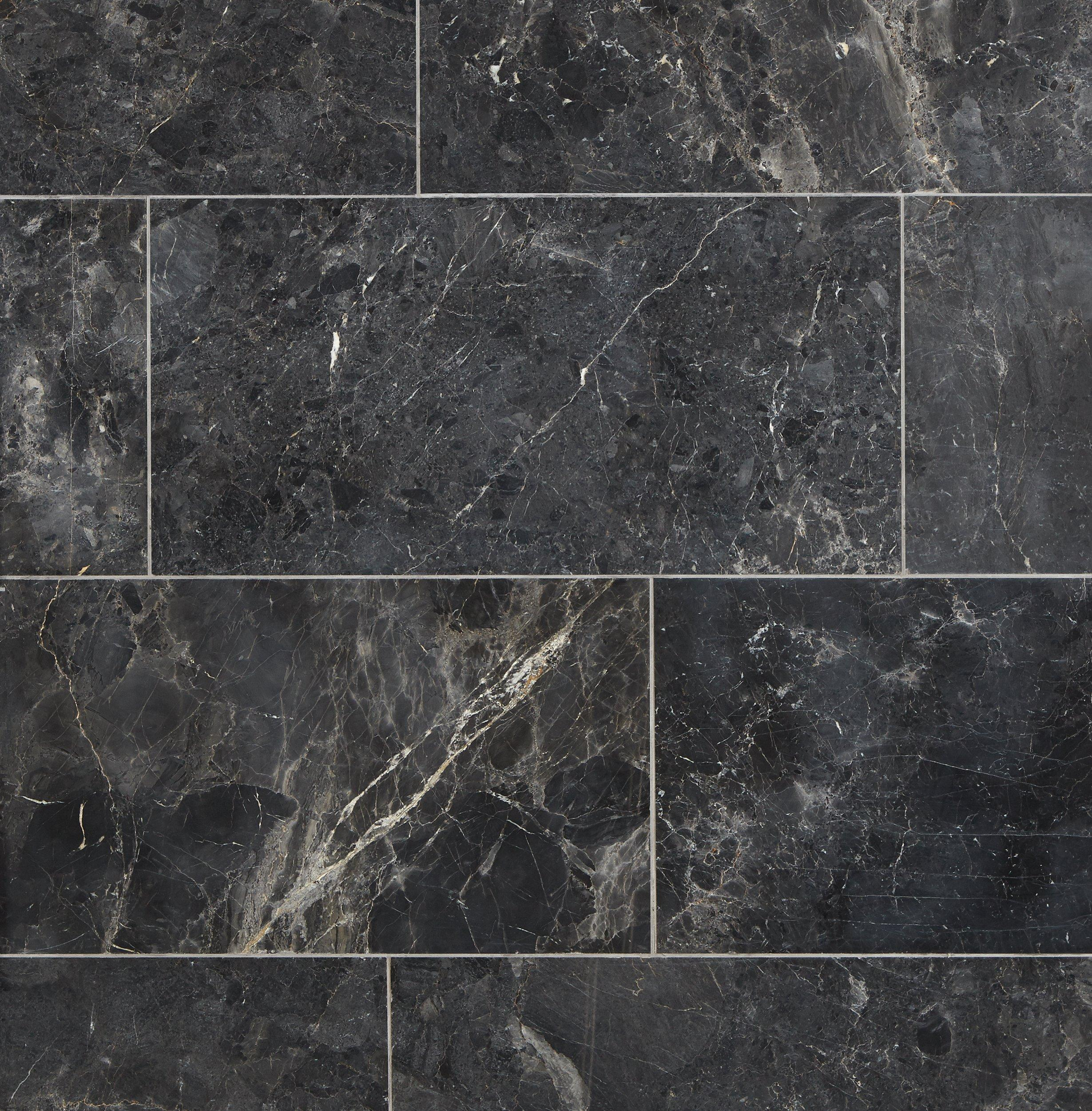 Silver Black Polished Marble Tile 12 X 24 100434711 Floor And Decor