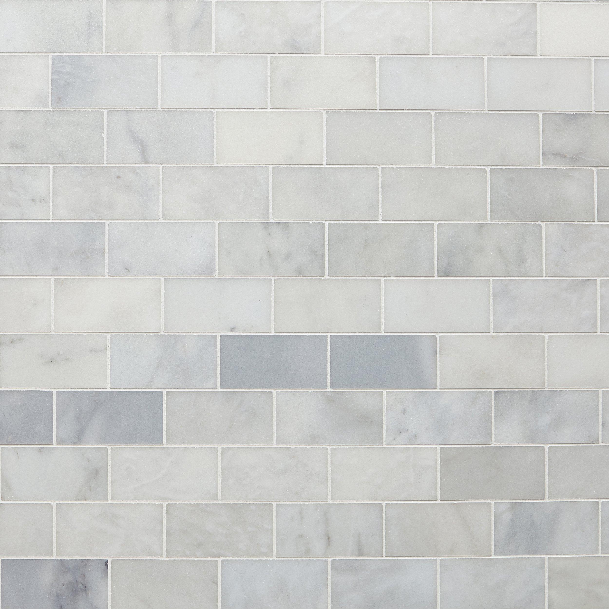 Carrara Chateau Honed Marble Tile 3 X 6 100701960 Floor And Decor