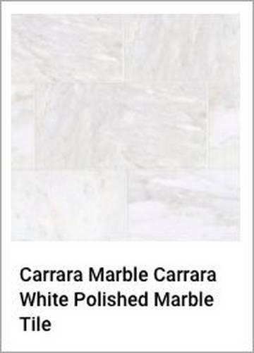 Carrara Marble Carrara White Polished Marble Tile