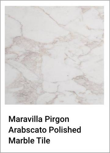 Maravilla Pirgon Arabscato Polished Marble Tile
