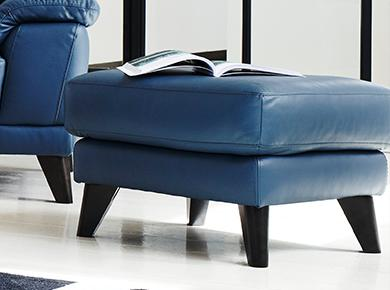 leather footstool