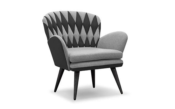 Freja anthracite accent chair