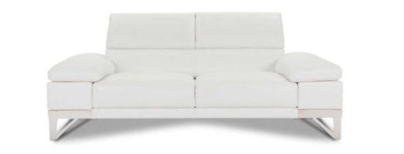 White 2 seater sofa