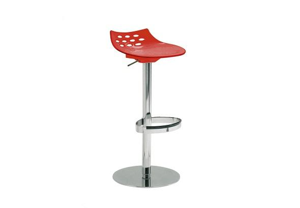 New York Swivel Bar Stool in Red