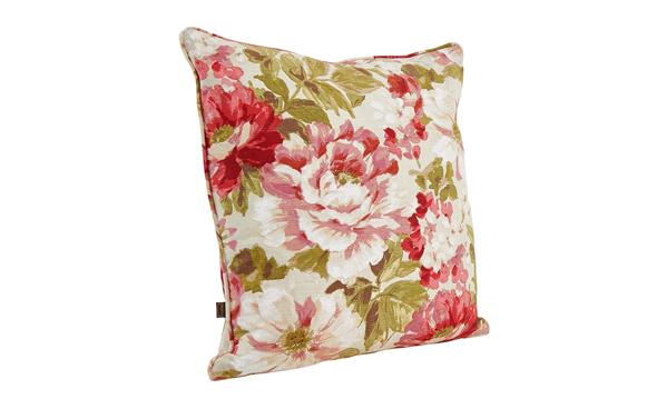 Alison floral red cushion