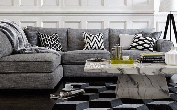 Anastasia Grey Corner Sofa