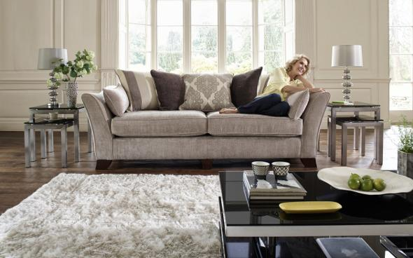 Annalise sofa in a living room