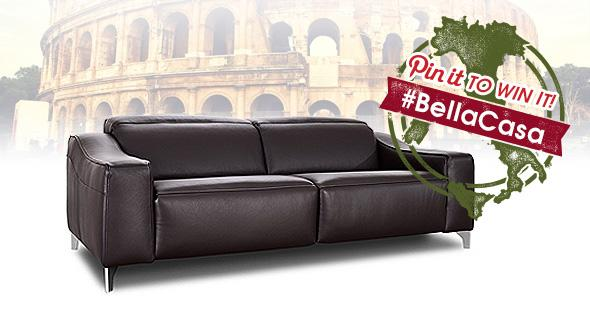 bella casa competition prize sofa
