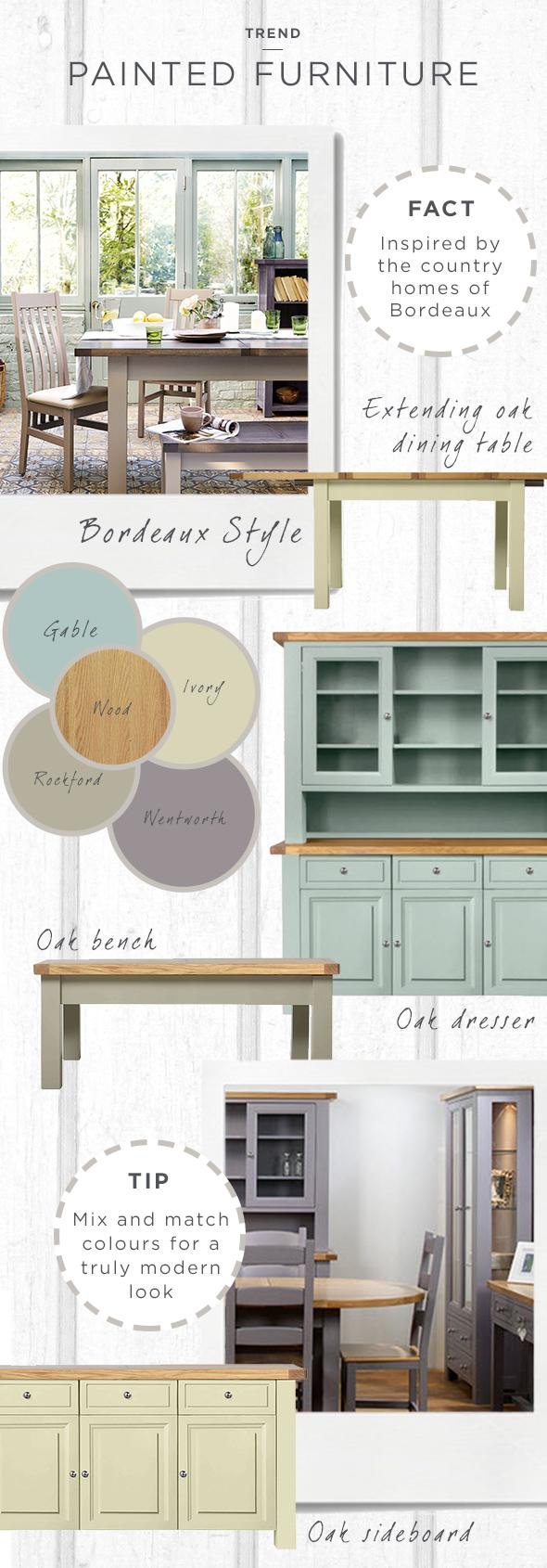 bordeaux painted furniture trend