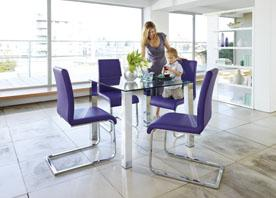 Purple Dining Set