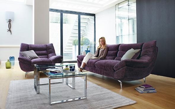 Contour fabric sofa