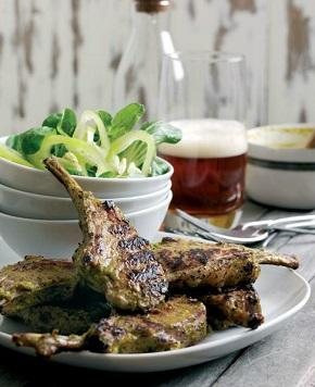 coriander and ginger lamb chops