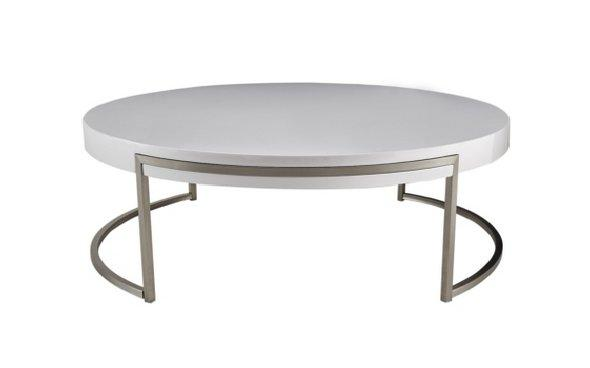Solar White Gloss Round Coffee Table