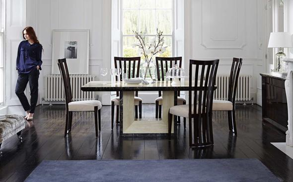 Marmo dining table set and 4 chairs by Furniture Village
