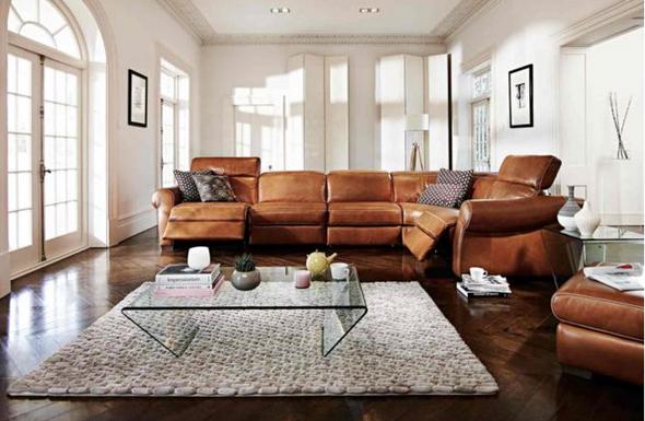 Natuzzi salerno corner sofa