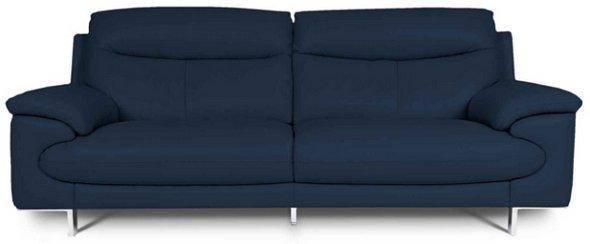 Blue condo sofa