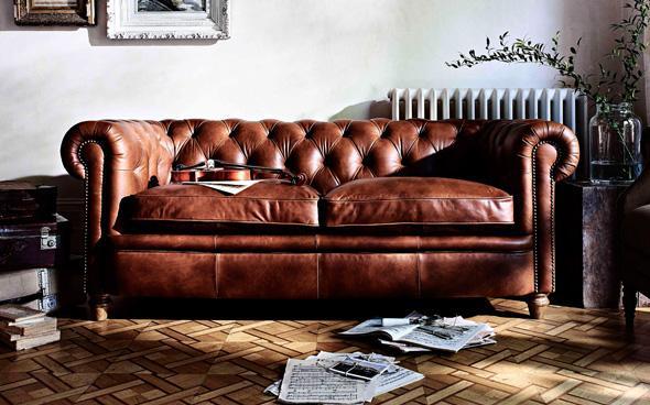 NEw England Leather Sofa
