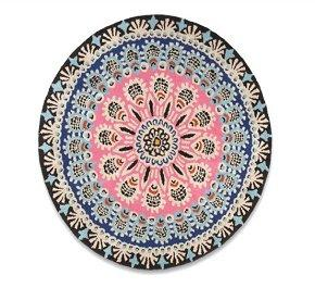 Peacock round rug