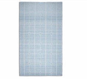 plaza blue silk floor rug