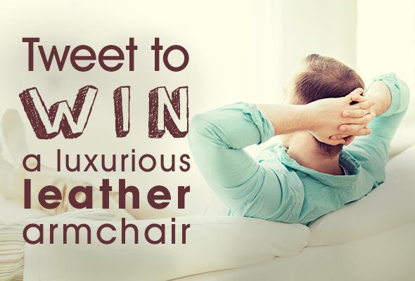 tweet to win a luxurious leather armchair