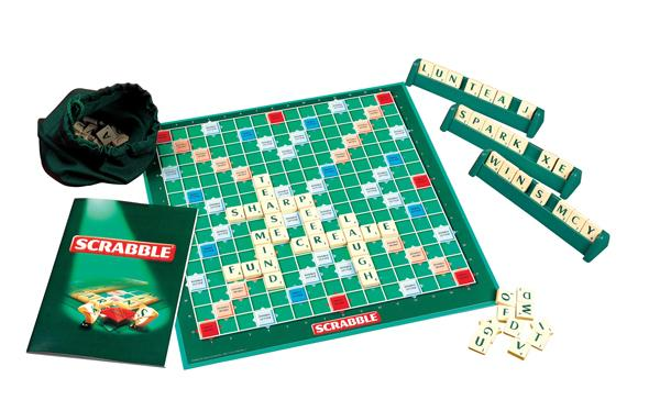 Scrabble board and scrabble tiles