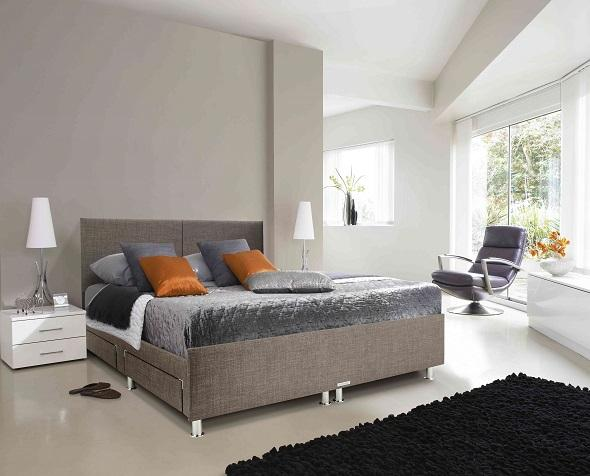 Adjustables Solutions Double Bed in Slate Grey