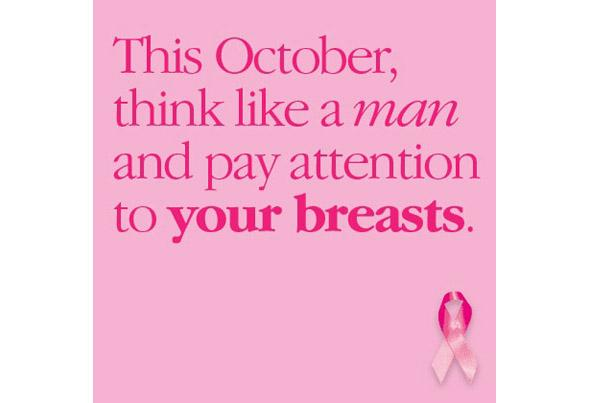 Pay attention to your breasts poster
