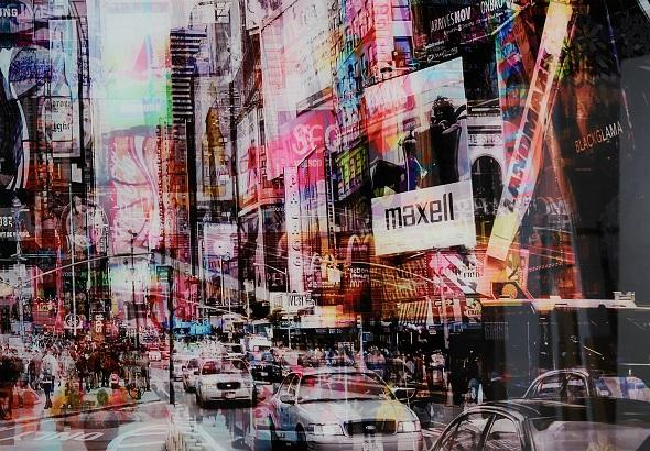 This Times Square Glass Wall Art Picture by Furniture Village