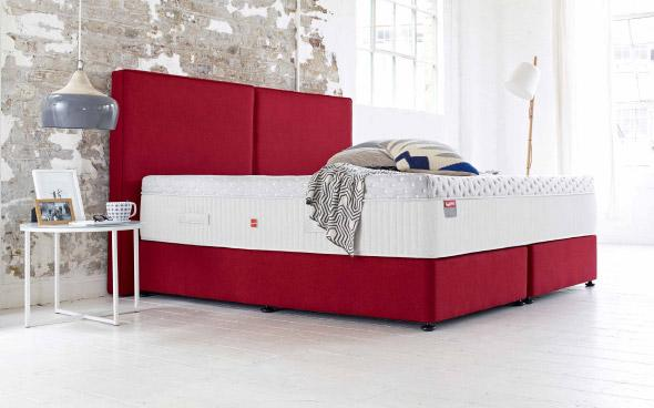 A luxury Slumberland double bed by Furniture Village