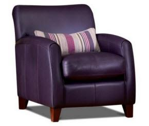 G plan yale leather accent chair