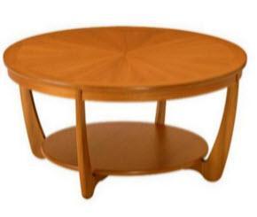 Nathan sunburst round coffee table