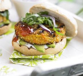 carrot and sesame seed burgers