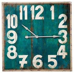 Wooden Vintage Square Wall Clock