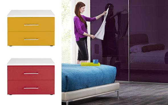 Colourful welle bedroom and furniture