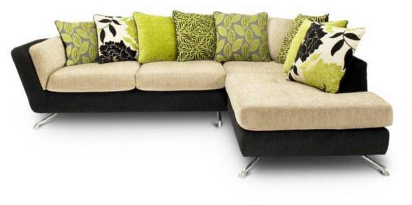 Large corner chaise sofa