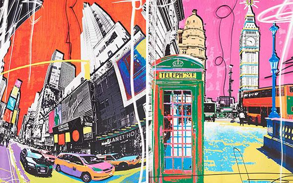 Vibrant London pop art