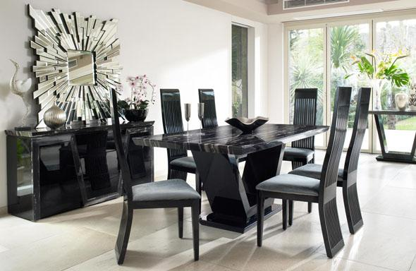 Silver dragon dining set