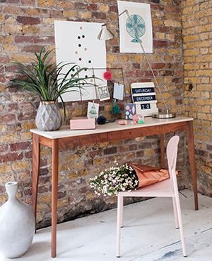 styled desk