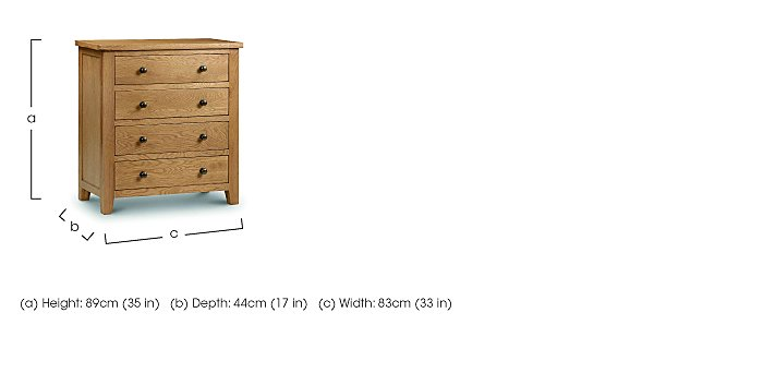 Addison 4 Drawer Chest