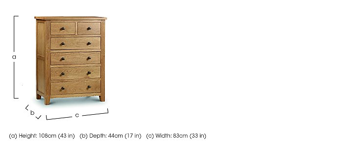 Addison 6 Drawer Chest in  on FV