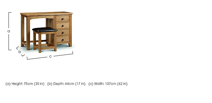 Addison Single Pedestal Dressing Table
