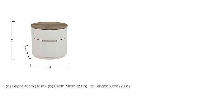 Aero Bedside Table  in {$variationvalue}  on FV