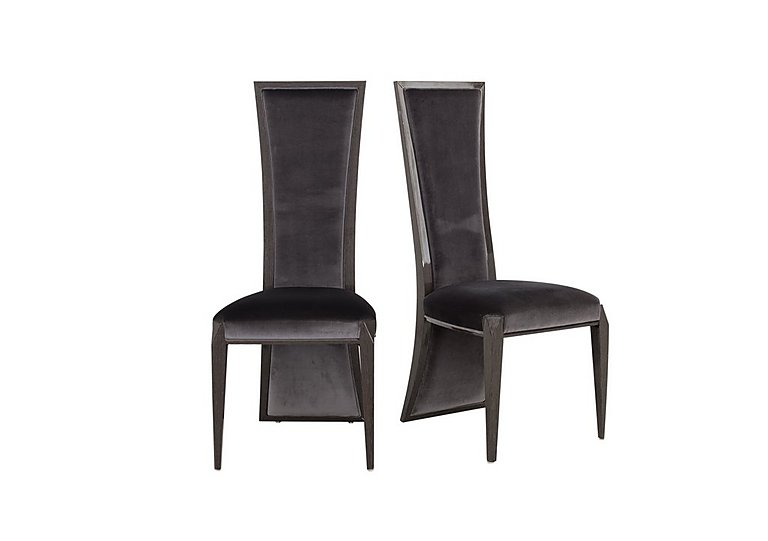 Allure Pair of Lacquer Back Dining Chairs