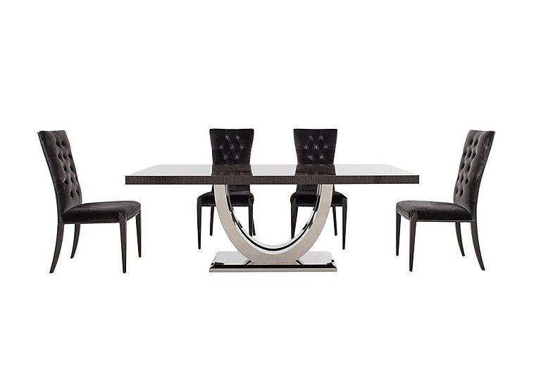 Allure Dining Table and 4 Button Back Dining Chairs